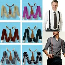 New Adjustable Mens Suspender 3.5 CM Width Clip-on unisex Suspenders Braces BD6H