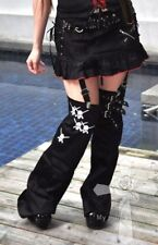 Jrock Visual Kei Skull Cyber Punk Safety Pins Rockabilly Red Lining Skirt Pants