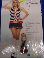 2 pc. Striped Sailor Girl Navy Shipmate Leg Avenue Halloween Sexy Adult Costume