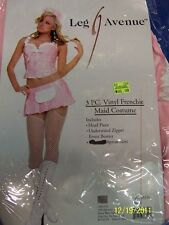 3 pc. Vinyl Frenchie Maid Pink French Leg Avenue Halloween Sexy Adult Costume