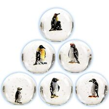 3D Penguin Bouncy Ball   - Clear Superball - Bouncing  - 6 Designs Available