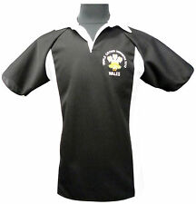 WALES TRIPLE CROWN WINNERS 2012 RUGBY STYLE SHIRT  NEW S M L XL  XXL  3XL  Black
