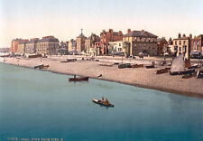 PS50 Vintage 1890's Deal From The Pier Kent Photochrom Photo Poster Print A3/A2