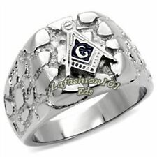 Wholesale 316L Stainless Steel Designer Masonic Mason Mens Ring SIZE 9-13