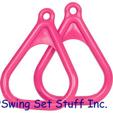 SWING SET TRAPEZE RINGS PAIR - SEAT CHILD TOY OUTSIDE PARK CHILDREN HANDLE 0005