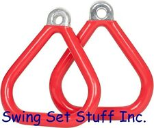 SWING SET TRAPEZE COMMERCIAL COATED TRIANGLE RING PLAYGROUND OUTSIDE SEAT 0017