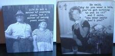 Wood Square Sitter with Humorous Sayings by Trash Talk by Annie--Priced Each