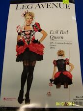 2 pc. Evil Red Queen Alice Wonderland Leg Avenue Halloween Sexy Adult Costume