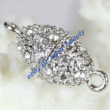 A Grade Crystal Inlayed Gold Plated Magnet Olive Shape Clasp wholesale