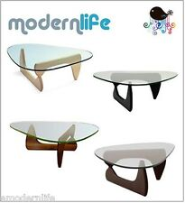 "noguchi tribeca coffee table thick 3/4"" tempered glass : available in 4 colors"