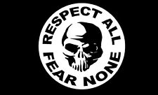 Respect All Fear None Skull Decal car truck window vinyl decals sticker graphic