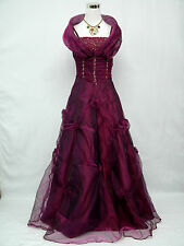 Cherlone Satin Dark Purple Long Bridesmaid Prom Ball Wedding/Evening Gown Dress