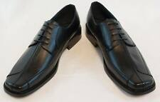 New Masimo black Mens dress shoes laceup faux leather. 2171-01