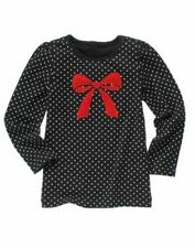 NWT Gymboree Girls Winter Penguin Polka Dot Bow Tee Size 4 5 6