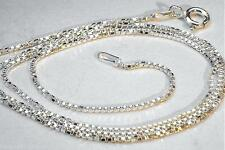 """0.7MM-0.9MM ITALIAN SOLID 925 STERLING SILVER SQUARE BOX CHAIN NECKLACE 16""""-24"""""""
