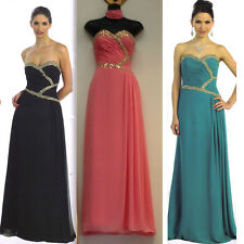 9 COLORS Sexy Long Ball Gown Dress Party Gala Prom Evening Pageant Cocktail 4-20
