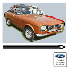 Ford Escort Mk1 Mexico 'Triple' Stripe Kit Decals Stickers 1300E GT RS Stripes