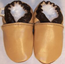 Moxiesbabyshoes  TAN soft soled leather boys baby shoes 0-6 TO 6-7 yrs
