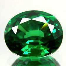 AAA Rated Oval Faceted Bright Emerald Green Cubic Zirconia (3x2mm to 25x20mm)