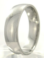 New Women Stainless Steel 916L White Gold Plated Wedding Anniversary Band Ring