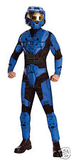 HALO OFFICIALLY LICENSED BLUE or RED SPARTAN COSTUME - DELUXE VERSION - NEW!