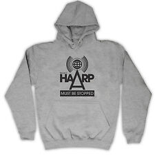PROJECT HAARP MUST BE STOPPED CONSPIRACY HOODED TOP KIDS HOODIE ALL COLS & SIZE