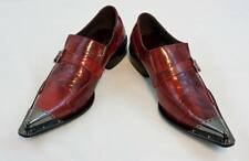 New Fiesso Dress Shoes Red with Decorative Metal Tips, Leather, FI 6053