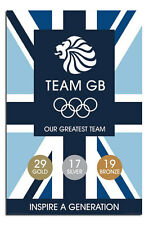 Team GB Olympics Our Greatest Team Medal Count Poster New - Laminated Available