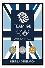 Framed Team GB Our Greatest Team Medal Count Poster - Choice Of Frame Colours
