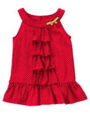 NWT Gymboree Cherry Cute Red Polka Dot Top Size 3