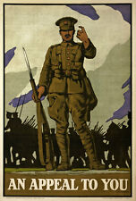 WA38 Vintage WWI Appeal To You British Recruitment War Poster WW1 Re-Print A4