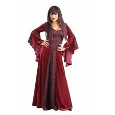 Bellatrix Gothic Vampire Sorceress Wine Dress Up Halloween Sexy Adult Costume