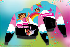 Dora The Explorer Jacket Rainbow Pink Black Girls Kids Size