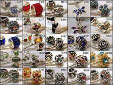 European Charm Bead for Bracelet YOU CHOOSE COLOR &/OR STYLE Ships from USA