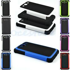 Dual Layer Hybrid Hard Case Cover for Samsung Galaxy S3 III i9300 S5 i9600 G900