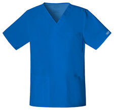 Royal Blue Cherokee Workwear Unisex  V Neck Scrub Top 4725 ROYW
