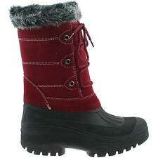 LADIES SNOW WINTER MUCKER BOOTS SIZE UK 3 - 8 WARM THERMAL LINED BURGUNDY W256BD
