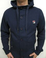 Fila Vintage 80s Mysterion Hooded Track Top in Navy XS,S,ML,L,XL,2XL RRP £75