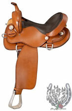 "Gaited Horse Trail Saddle-Gaited Horse Bars Medium Oil (Sizes 15.5"",16.5"",17.5)"