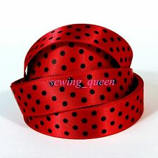 "5/8"" HOT CUTE SWEET LOVE PRINCESS POLKA DOT GROSGRAIN RIBBON DIY HAIRBOW CRAFTS"