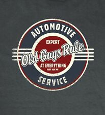 OLD GUYS RULE CLASSIC AUTOMOTIVE SERVICE CHARCOAL TEE SHIRT