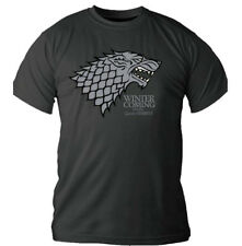 Official T Shirt GAME OF THRONES Logo Grey HOUSE STARK