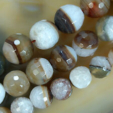 Faceted Coffee Druzy Agate Round Beads 12,14,16mm Pick Size