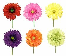 "Large Gerber Daisy Flower Head on Stem Summer Floral Decor 7"" dia x 29"" NEW L200"