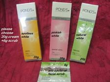 Ponds Lightening Cream 4Dark Skin: Rosy Detox Spotless Cream & Facial Scrub 20g