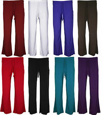 New Womens Ladies Plus size Stretch Palazzo Trousers Pants 14 16 18 20 22 24 26