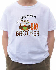 I'm going to be a Big Brother Shirt with Cute Brown Owl with Book T-shirt