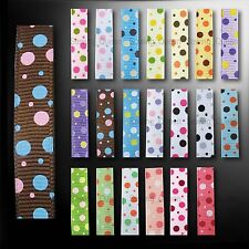 "3/8"" 10 YDS HOT MIXED CUTE POLKA DOT GROSGRAIN RIBBON DIY HAIRBOW CRAFTS GIFTS"