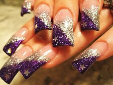 FINE GLITTER DUST BLING SPARKLY DEEP PURPLE NAIL ART 4 GEL/NATURAL/ACRYLIC #36