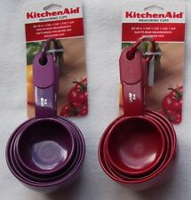 KitchenAid Measuring Cups Set 4 Nylon Assorted Colors Silicone Grip Handle NEW